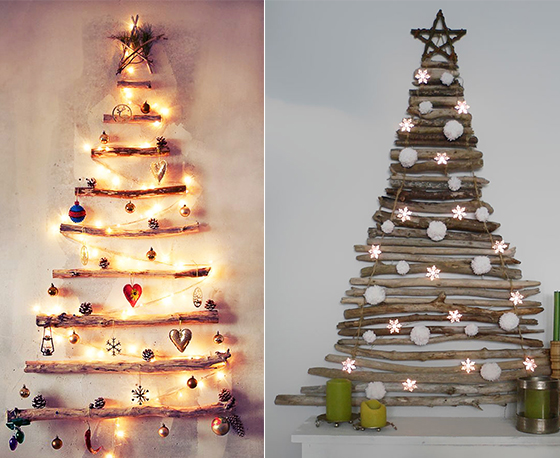 sparkling lighted led candles christmas wall decor - Lighted Christmas Wall Decorations